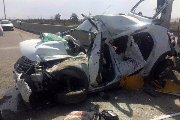 تصادف 2 خودرو در جاده گناباد-قائن یک کشته برجای گذاشت
