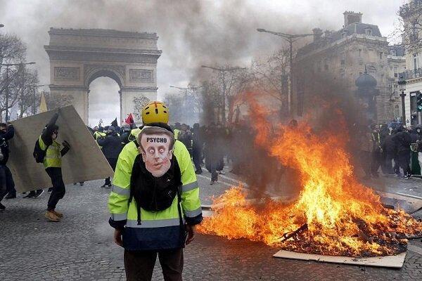 معترضان فرانسوی بار دیگر به خیابان ها ریختند
