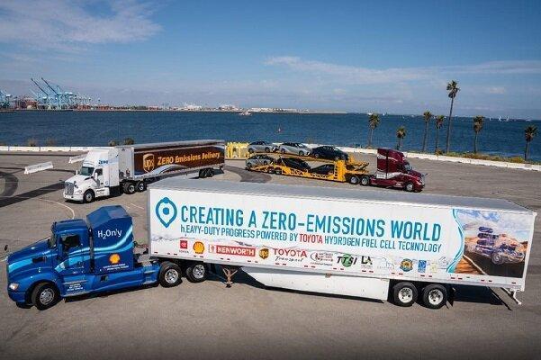 فراوری کامیون هیدروژن سوز تویوتا با آلودگی صفر