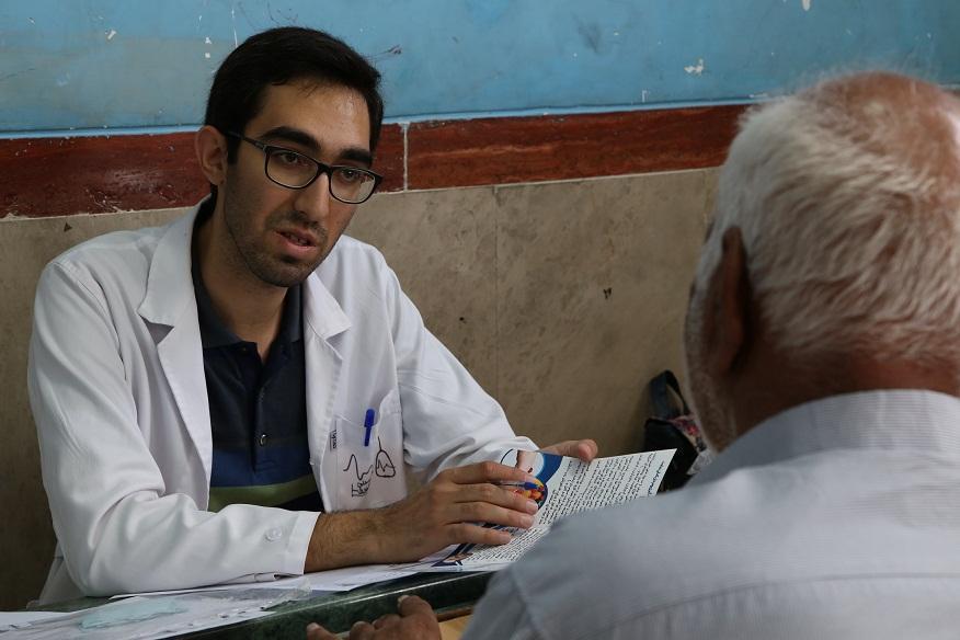 گروه جهادی کاظمی آشتیانی 510 نفر را رایگان ویزیت کرد