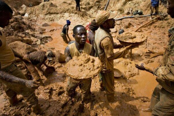 رانش زمین در یک معدن طلا در کنگو، 16 تن کشته شدند