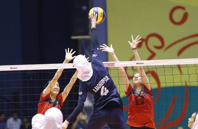 دیدار بانوان والیبال ایران با چین تایپه در نخستین روز قهرمانی آسیا
