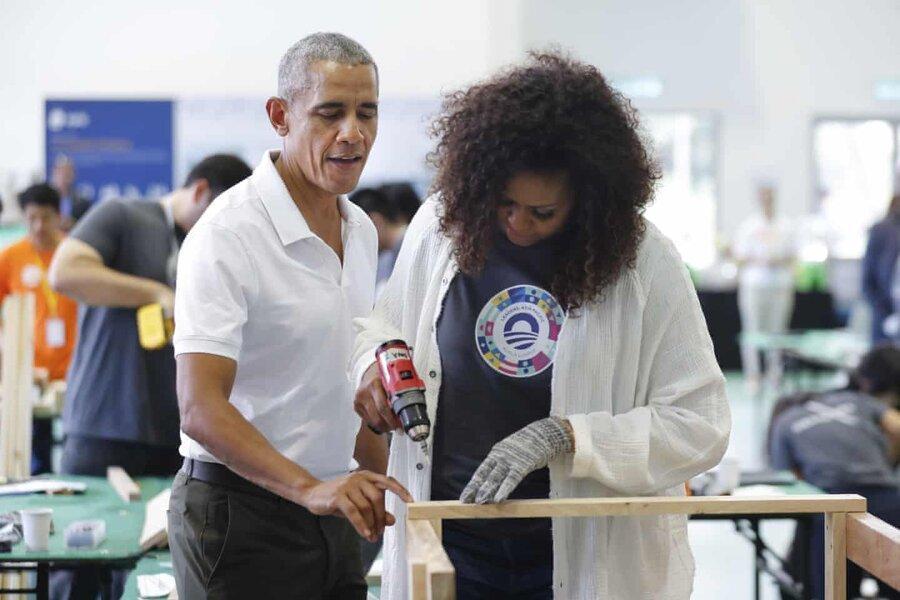 عکس روز: اوباماها در کوالالامپور