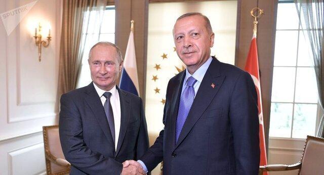 رایزنی تلفنی رؤسای جمهور روسیه و ترکیه با موضوع شرایط سوریه
