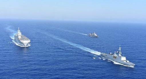 مانور دریایی فرانسه و یونان در اوج تنش ها با ترکیه