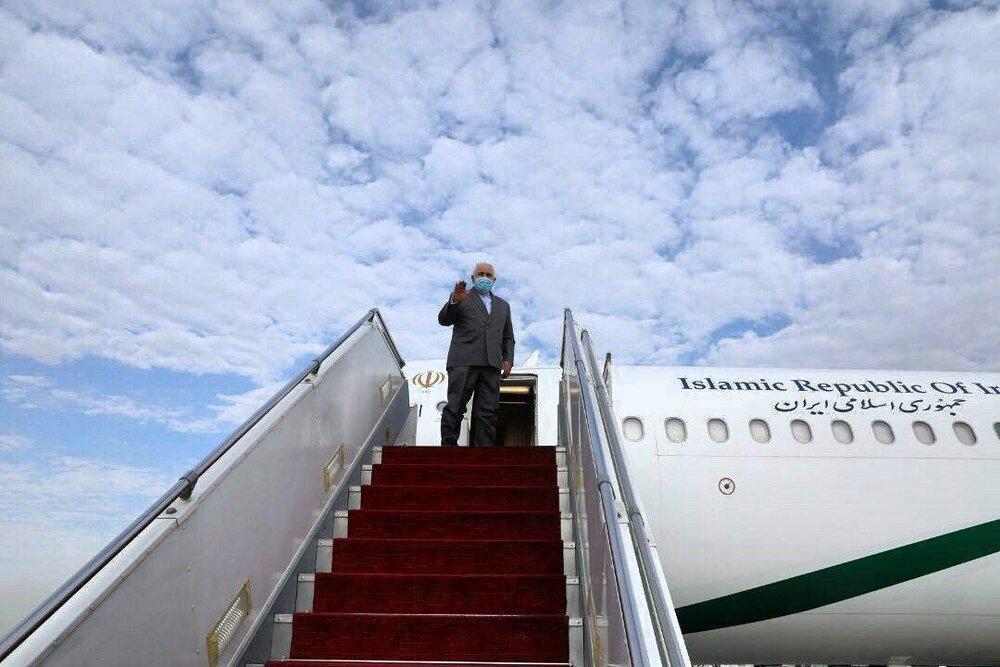 ظریف به بغداد رسید
