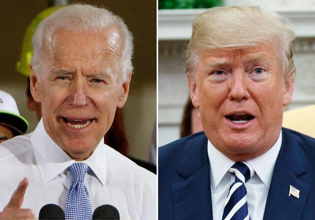 شکاف بین بایدن و ترامپ دو رقمی شد
