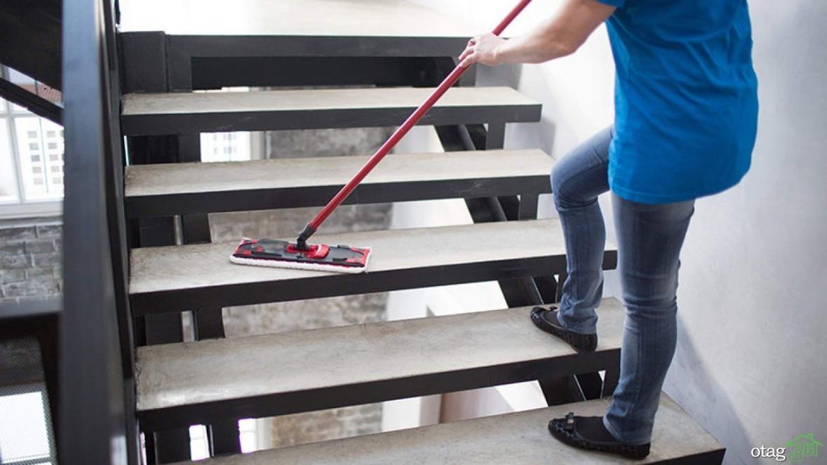 آموزش نظافت راه پله ها: چگونه راه پله را تمیز کنیم؟