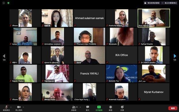 برگزاری جلسه آنلاین روسای فدراسیون های کوراش با فدراسیون جهانی