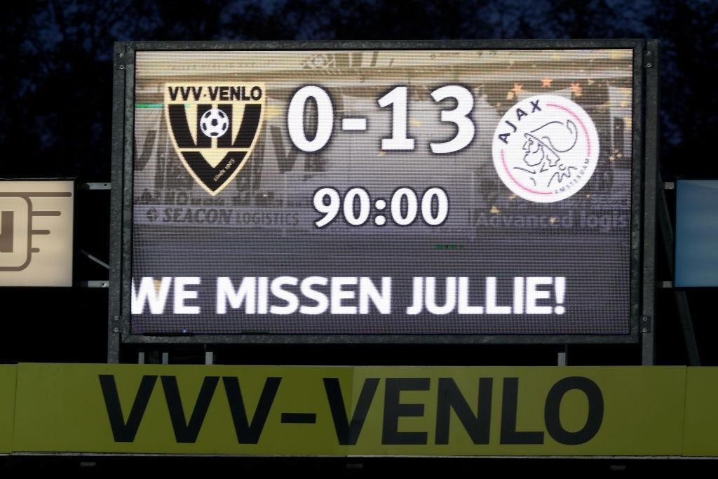 تاریخ سازی آژاکس در لیگ هلند؛ پیروزی با 13 گل!