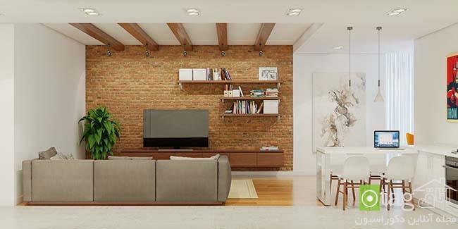 زیباترین نمونه های دیوار آجری در آپارتمان های مدرن و امروزی