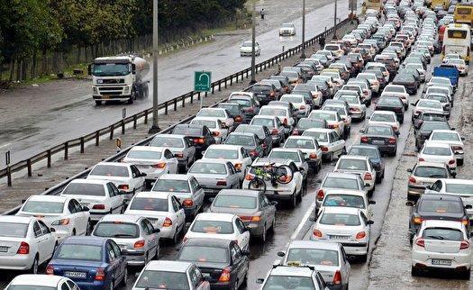 ترافیک سنگین در آزادراه قزوین -کرج
