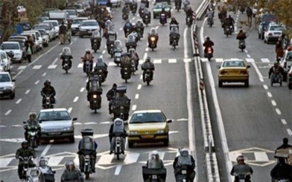 تنها 33 دستگاه از 3 میلیون موتورسیکلت در تهران معاینه فنی دارند
