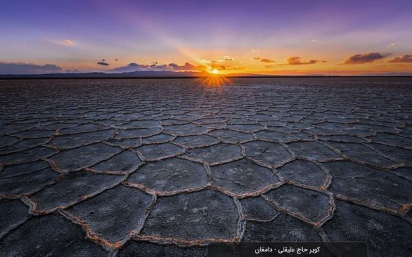 طبیعت زیبای کویر و دریاچه نمک حاج علیقلی دامغان، عکس
