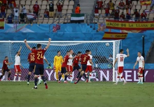 یورو 2020، پیروزی یک نیمه ای اسپانیا برابر لهستان به کمک VAR